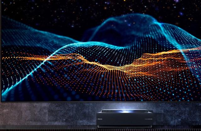 lanzamiento HISENSE Láser TV reflector imagen