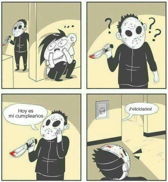 Cumpleaños meme comic killer whatsapp
