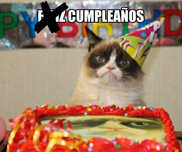 Grumpy Cat℗ meme cumpleaños birthday Whatsapp