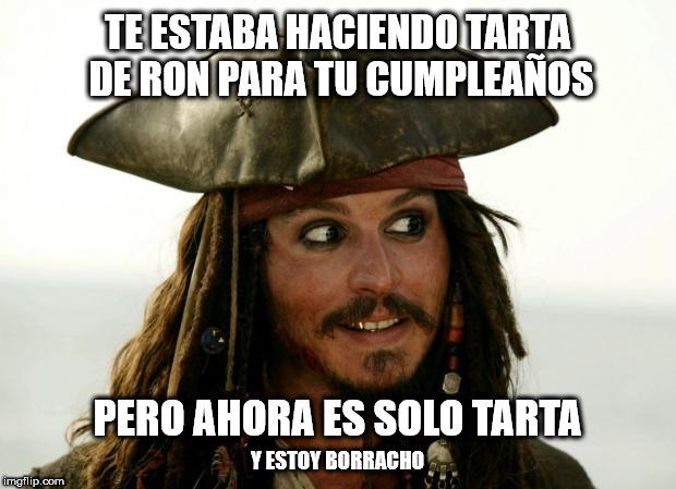 meme tarta de ron Jack Sparrow <stro data-recalc-dims=