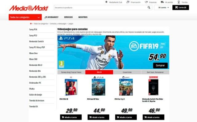 5 tiendas online para adquirir games a buen precio(valor) MediaMarkt