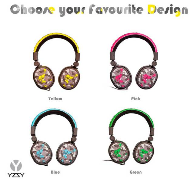 auriculares YZSY camouflage