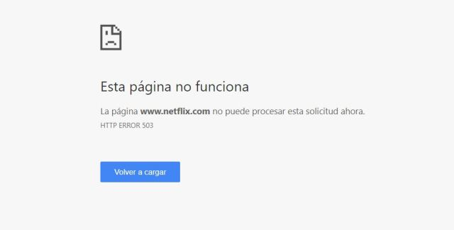 Netflix sufre una caída a nivel global, el servicio no funciona ...