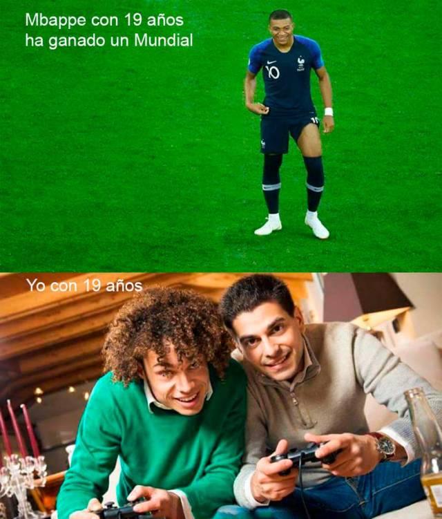 mejores memes final del Mundial de Rusia(país) 2018 Mbappe