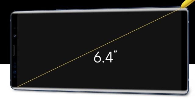 5 noticias del Samsung℗ Galaxy℗ Note 9 respecto al Samsung℗ Galaxy℗ Note 8 pantalla
