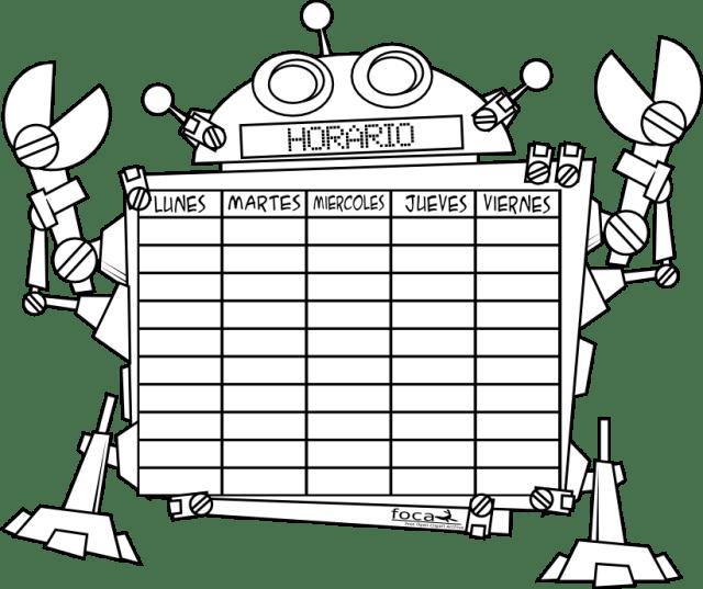 robot horario