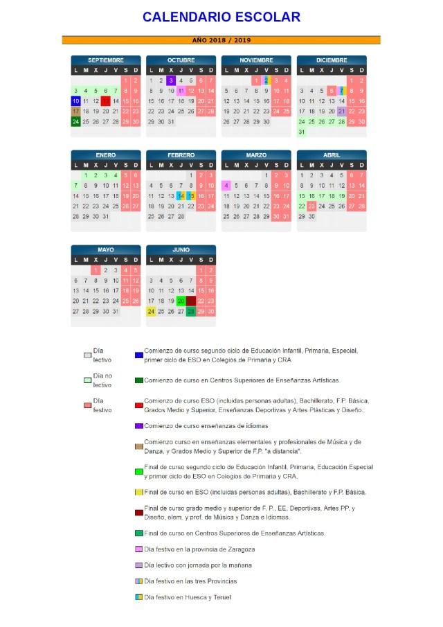 Calendario Escolar Andalucia 2020.Calendario Escolar 2018 2019 Mas De 100 Plantillas E Imagenes Para