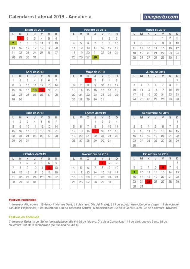 Andalucía calendario laboral