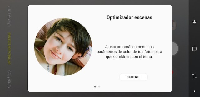 samsung galaxy a7 2018 optimizador de escenas