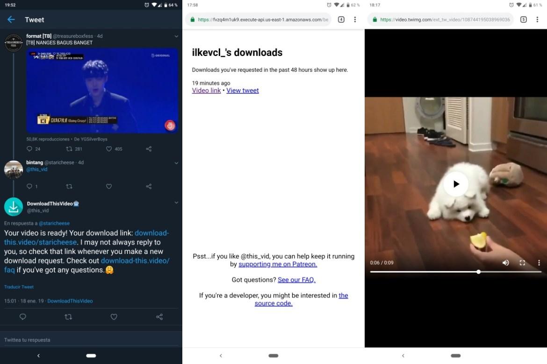 Cómo descargar vídeos de Twitter desde el móvil mencionando un bot