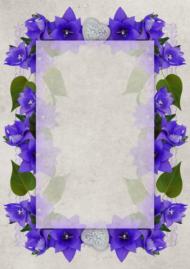 invitacion boda flores con marco