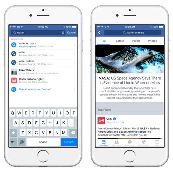 facebook búsquedas