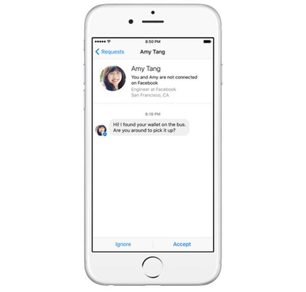 facebook messenger peticiones de mensajes