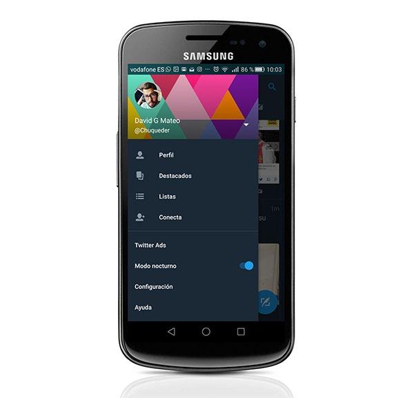 Permalink to Así es el nuevo modo nocturno de Twitter en móviles Android