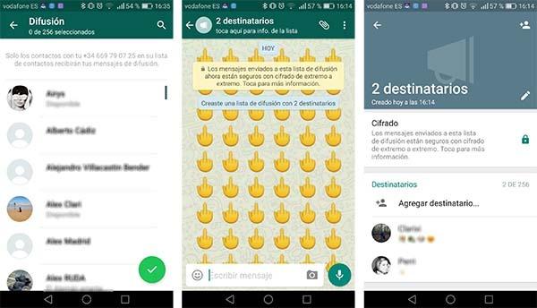 whatsapp grupos difusiones