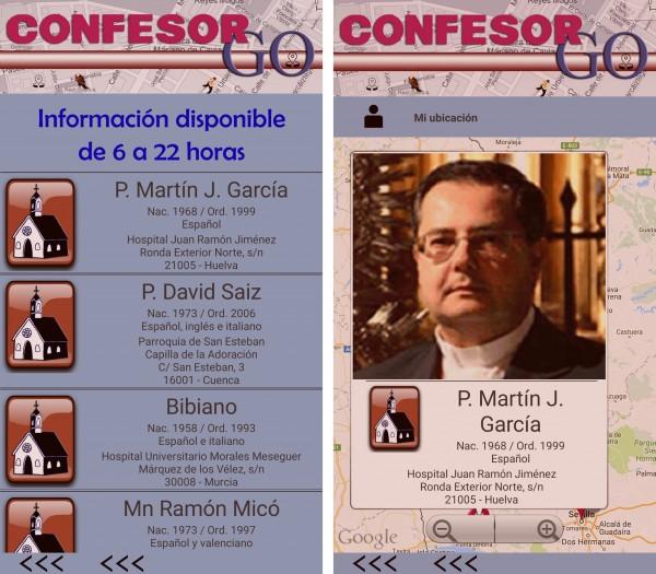 confesor go ficha curas