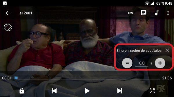 sincronizacion de subtitulos mx player