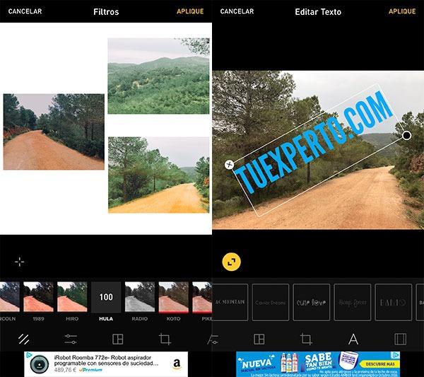 apps retocar fotos iPhone instasize