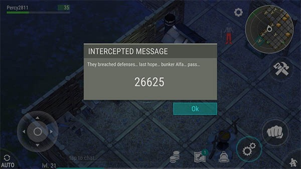 Código de acceso para el Búnker Alfa
