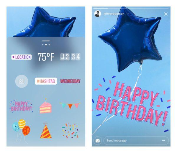 Cómo felicitar el cumpleaños en ©Instagram Stories