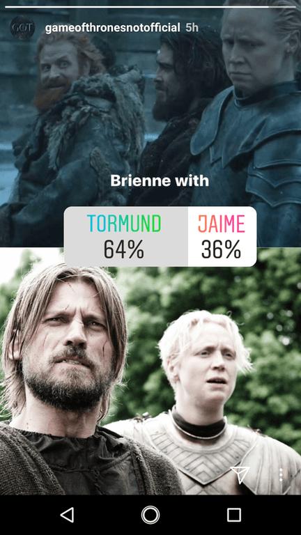 encuesta de instagram videojuego de tronos
