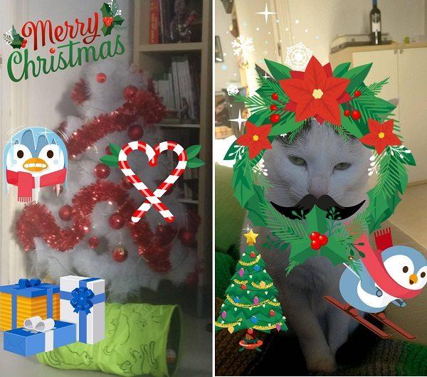 stickers navideños instagram