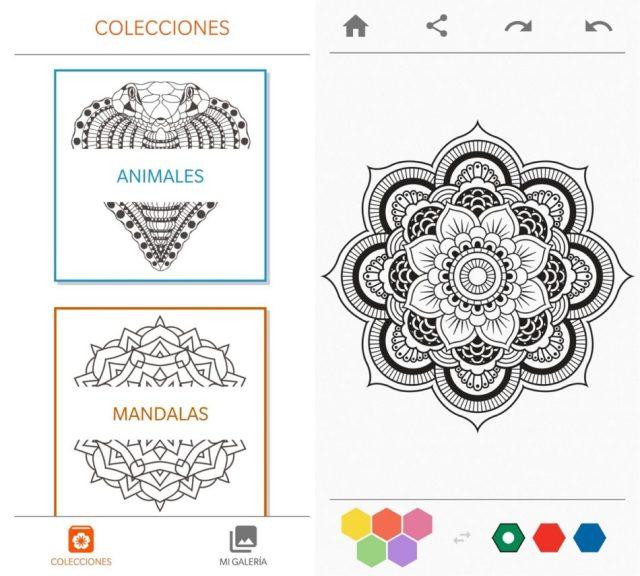libro de colorear para adultos aplicaciones para colorear