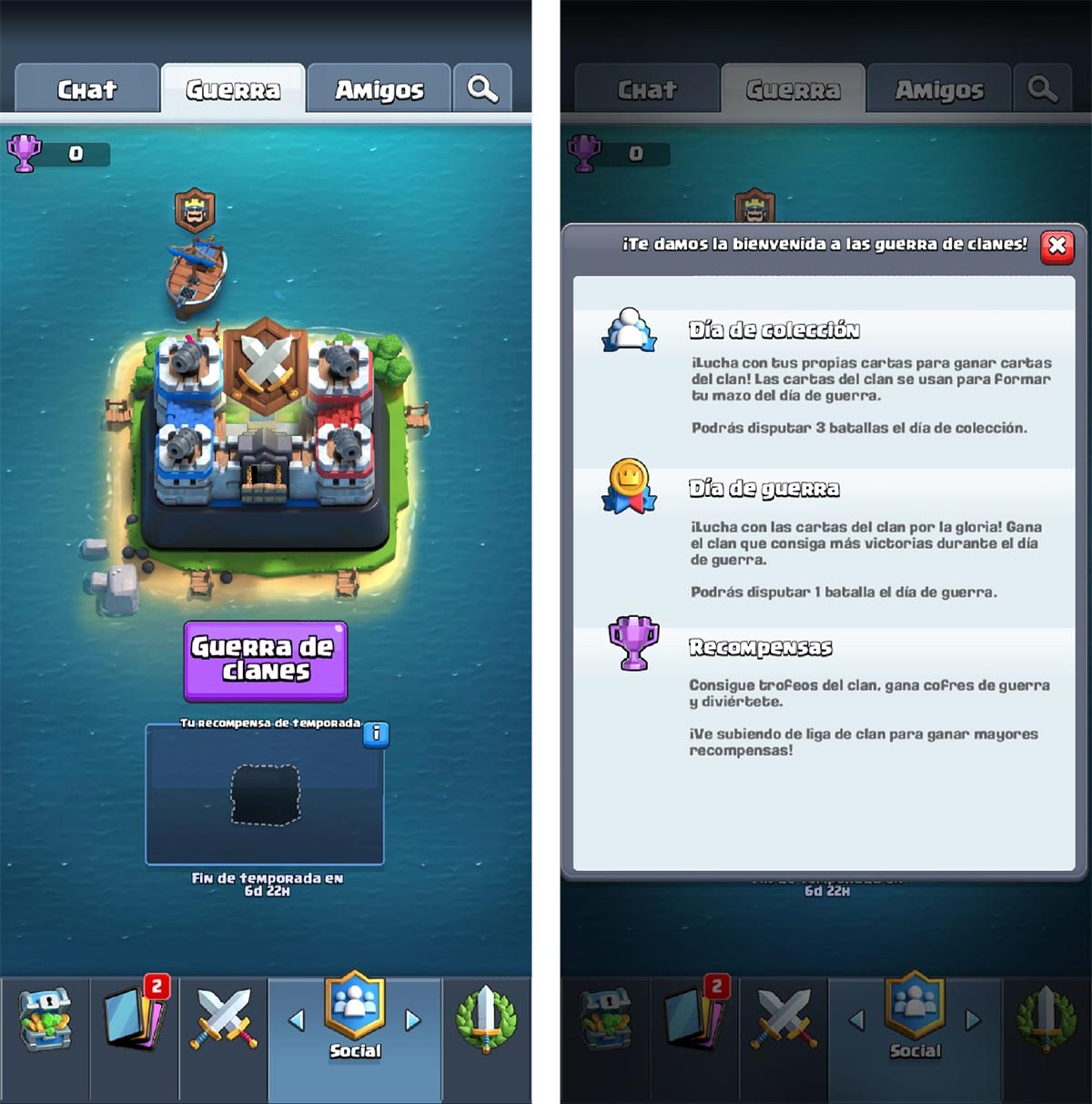 COC clan guerra matchmaking