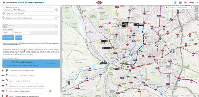 App Cálculo del Trayecto Multimodal – Metro y Esri, 1