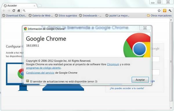 Google Chrome 18 beta