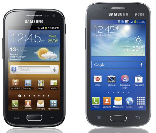 Samsung Galaxy Ace 2 y Samsung Galaxy Ace 3