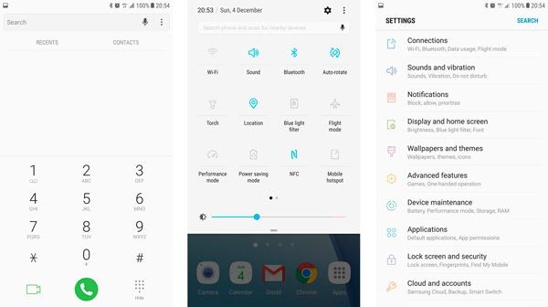 android 7 samsung galaxy s7 interfaz
