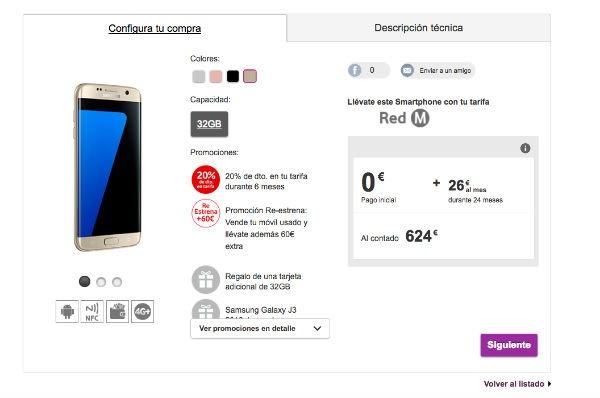 ofertas Vodafone navidad Samsung