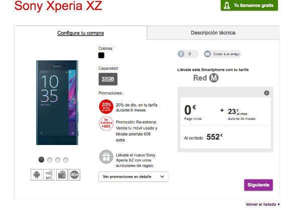ofertas Vodafone navidad Sony