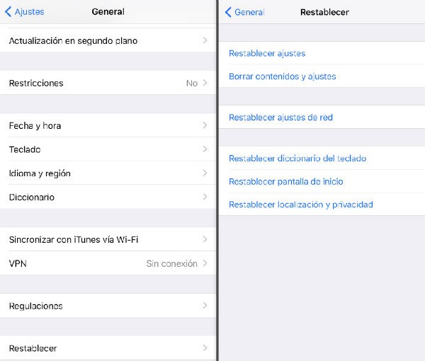 iPhone 7 mensajes de texto
