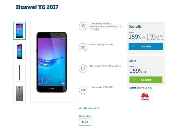 Huawei Y6 2017 Movistar