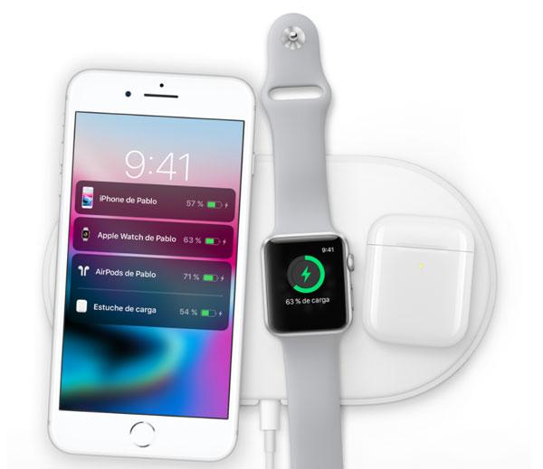 iPhone 8 Plus carga inalambrica