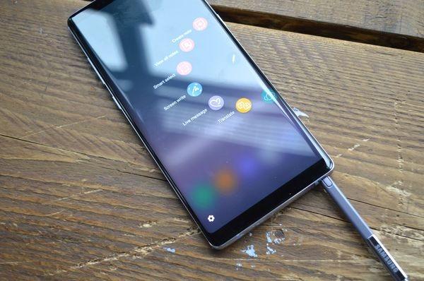 Samsung Galaxy Note 8 diseño