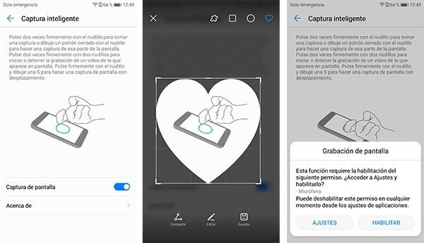 Estas son las funciones con los nudillos del Huawei Mate 10   iOS Móvil