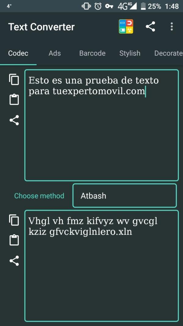 Cómo funciona Text Converter