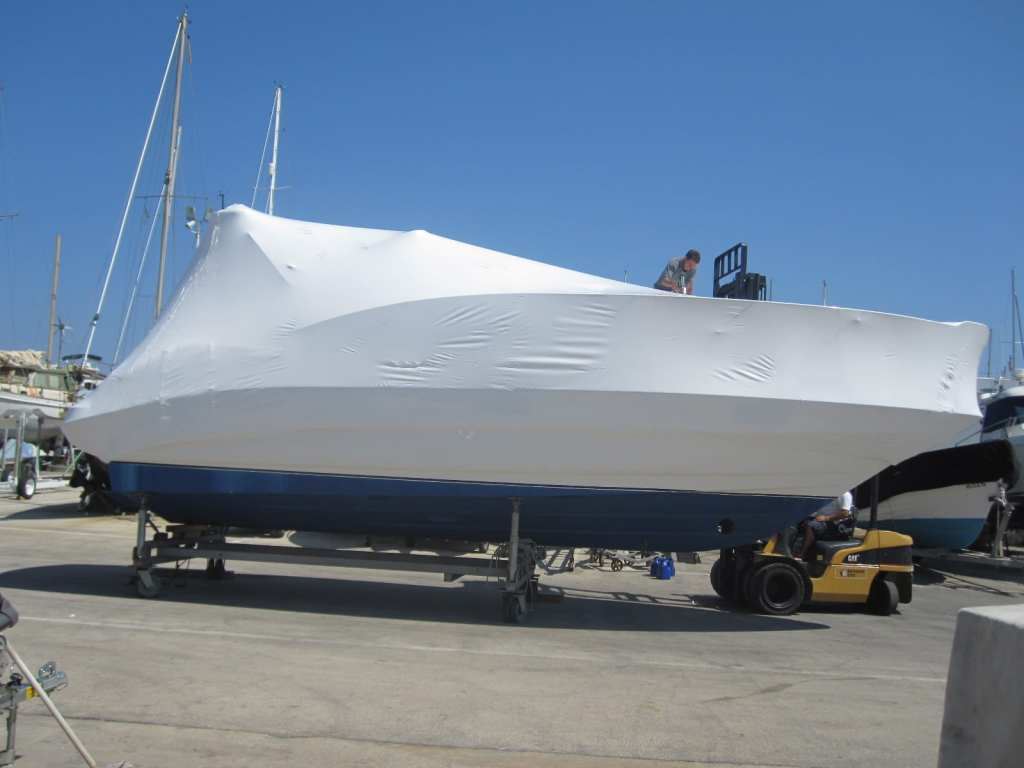 Boat covers for exhibition movements