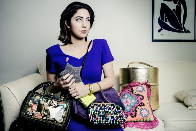 Portrait of Stylist with handbags by Tuffer