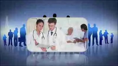 stock-footage-montage-of-doctors-working-with-elderly-patients-on-background-of-doctor-illustrations