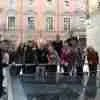 Foto del grupo en los restos de Santa María la Real de la Almudena.