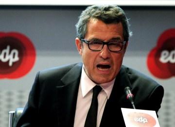António Mexia, Presidente do Conselho de Administração da EDP, durante a apresentação de resultados do 1º trimestre daquela empresa, 10 maio 2012, em Lisboa. MANUEL DE ALMEIDA / LUSA