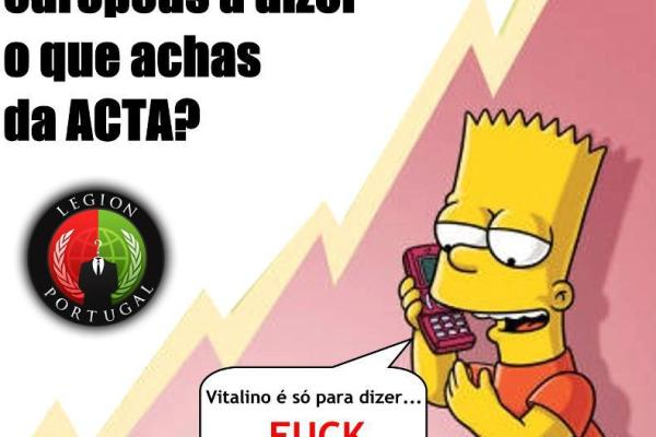 Anti-ACTA: ligar aos deputados de 'borla' para lhes dizer ACTA NÃO