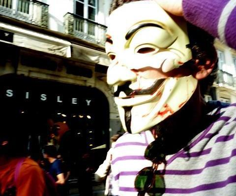 Anonymous na manifestação 22 de Março