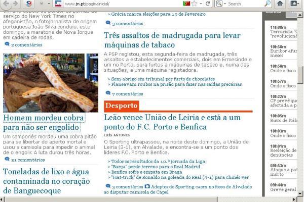 JN copia e divulga noticias na sua página inicial... de há 3 anos atrás