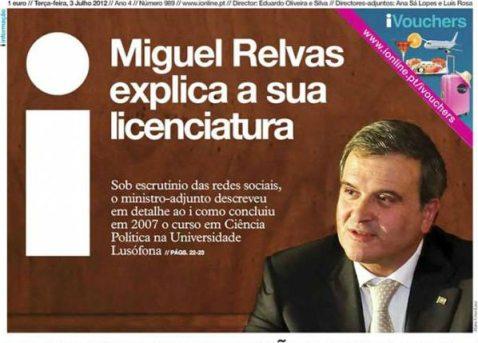 Miguel Relvas, toda a verdade: do Doutor para o 12º mal feito culminando na sua vergonha