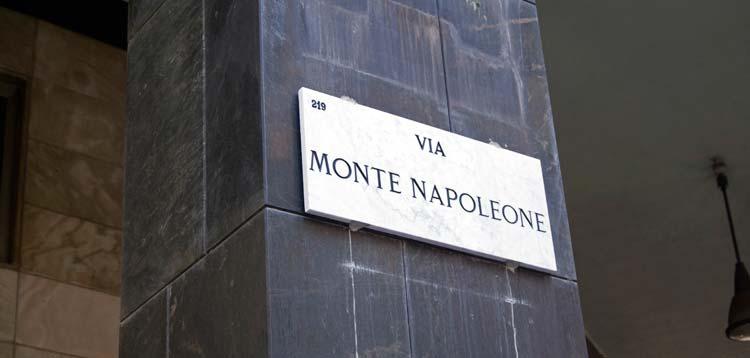 Via Monte Napoleone, Milán